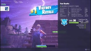 Fortnite - 9 FRAG solo win Raw Footage