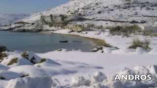 Aegean sea - Snow on Greek Islands - Greece 2014-2015