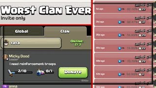 WORST CLAN EVER in Clash of Clans - 5 YEARS for Troops?