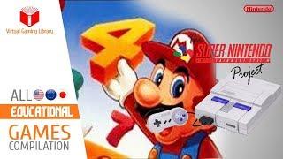All SNES/Super Nintendo Educational Games Compilation - Every Game (US/EU/JP)