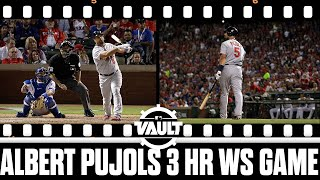 Albert Pujols makes HISTORY with 3 HR World Series game!