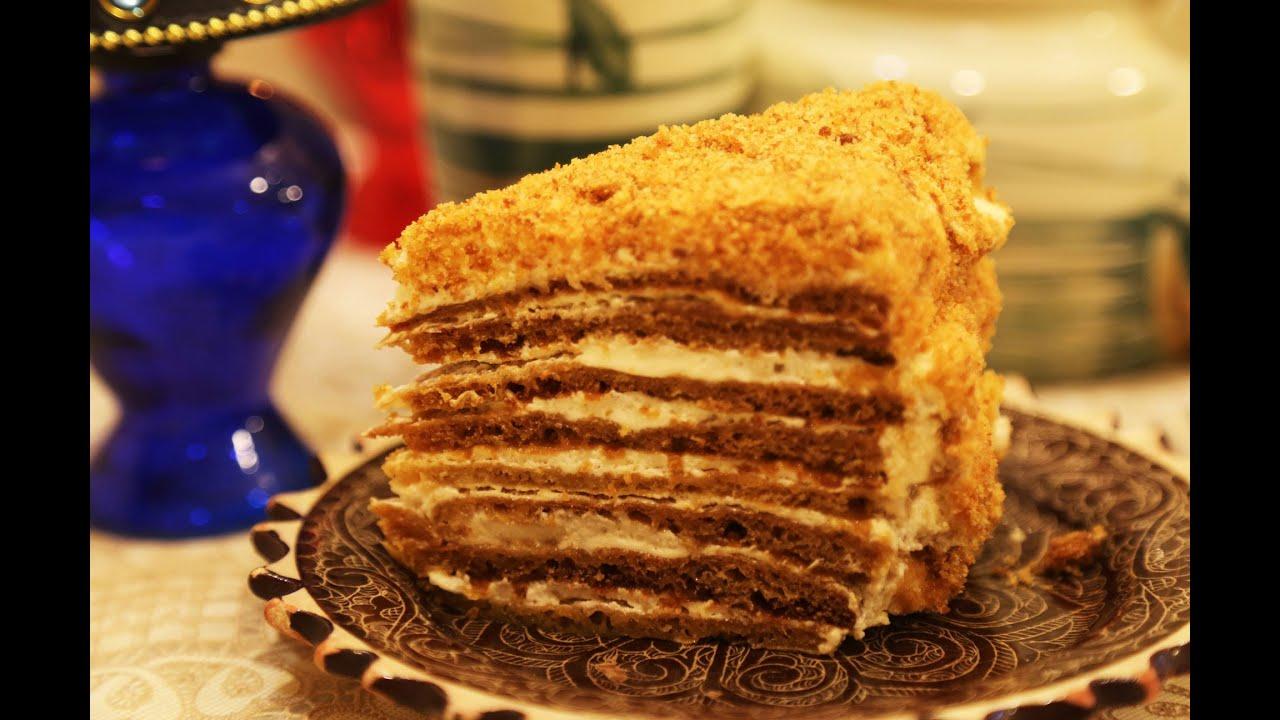 как приготовить торт медовик без яиц