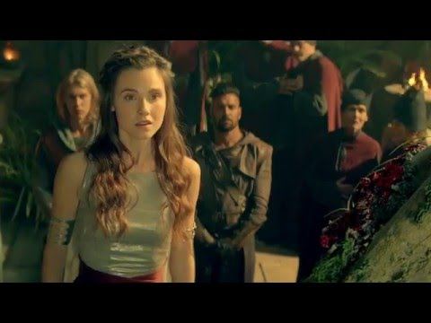 (Poppy Drayton France) The Shannara Chronicles 1x10 Behind The Scene