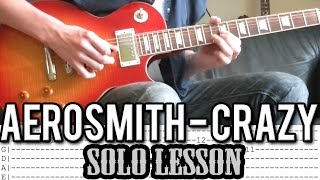 Aerosmith - Crazy SOLO Guitar Lesson (With Tabs)