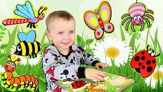 Учим насекомых - Развивающее видео для детей. Английский для детей