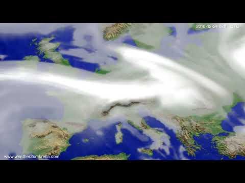 Cloud forecast Europe 2018-12-20