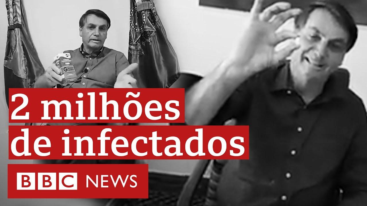 Gripezinha, cloroquina e 2 milhões de infectados: veja as falas de Bolsonaro em 143 dias de pandemia