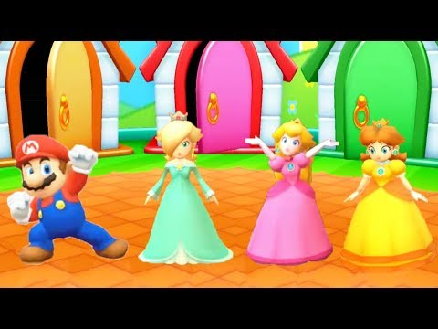 Mario Party Star Rush Minigames - Mario Vs Rosalina Vs Peach Vs Daisy (Master Cpu)