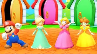 Mario Party Star Rush Minigames - Mario Vs Rosalina Vs Peach Vs Daisy (Master Cpu)