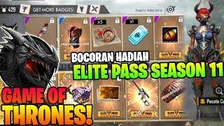 TEMA NAGA! BOCORAN HADIAH ELITE PASS SEASON 11 GAME OF THRONES! - Garena Free Fire thumbnail
