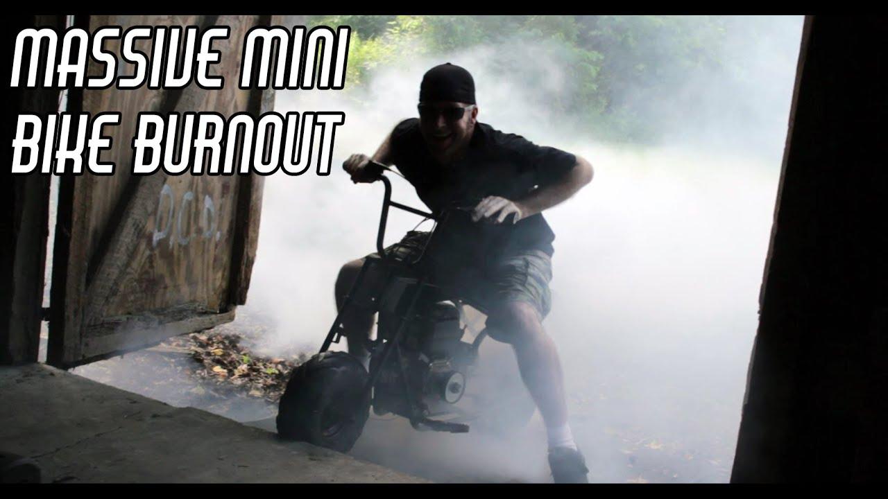 Mini Bike Massive Burnout, Leopard Seat, & Governor Removal