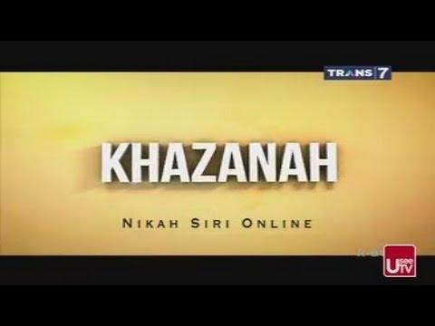 Hukum Nikah Siri Online - KHAZANAH ISLAM 30 April 2015
