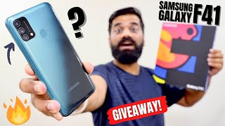 Samsung Galaxy F41 Unboxing & First Look | #FullOn Amazing!!! | GIVEAWAY🔥🔥🔥