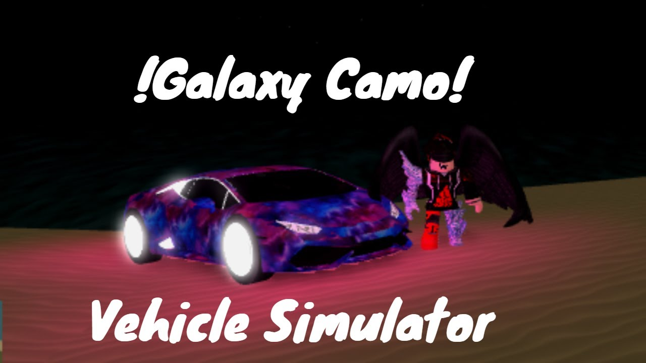 How To Get Galaxy Skin In Roblox Vehicle Simulator Youtube