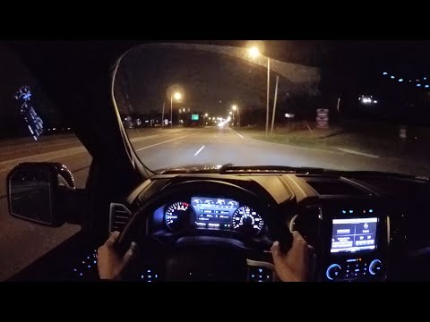 2015 Ford F-150 Platinum Supercrew 4x4 - WR TV POV Night Drive