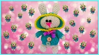 Заяц в капюшоне из резинок 2 ч./Bunny in the hood loomigurumi(, 2016-06-19T05:23:07.000Z)
