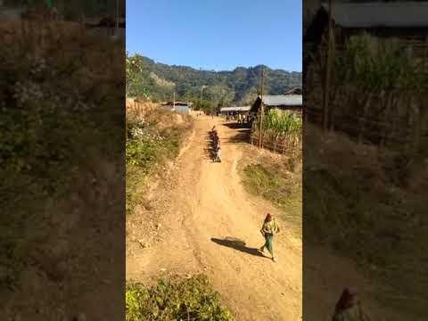 Fast speedBullet train in village of India