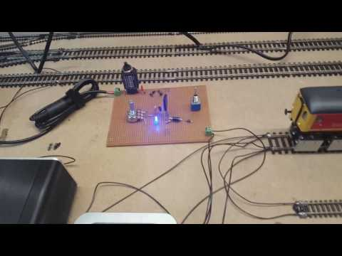 Scratch Built Smooth Model Railway Train Controller