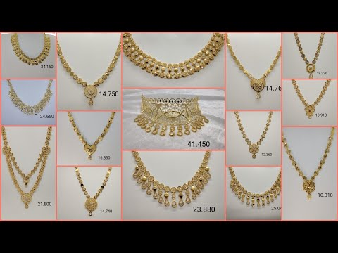 New Turkey Gold Necklace Designs 2021 with Price| Latest Low Cost Necklace Designs| Hallmark Designs