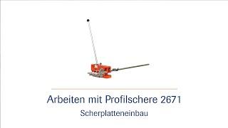 Handbetätigte und hydraulische Profilschere 2671 -  Scherplatteneinbau - HD |häwa