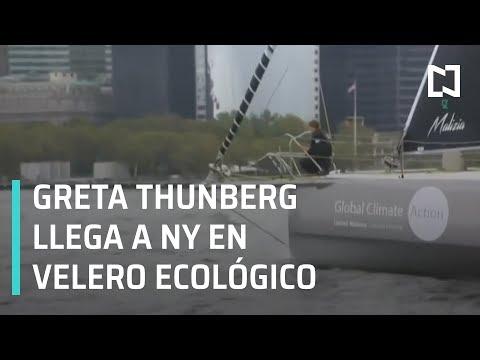 Greta Thunberg llega a Nueva York luego de cruzar el Atlántico en velero ecológico - En Punto