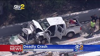 2 Adults, 2  Children Killed In Horrific Crash On 10 Freeway