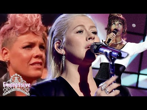 Download Youtube: Christina Aguilera tried it! Whitney Houston tribute FAIL | AMAs 2017