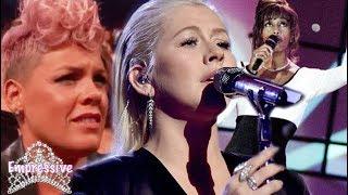 Video Christina Aguilera tried it! Whitney Houston tribute FAIL | AMAs 2017 download MP3, 3GP, MP4, WEBM, AVI, FLV November 2017