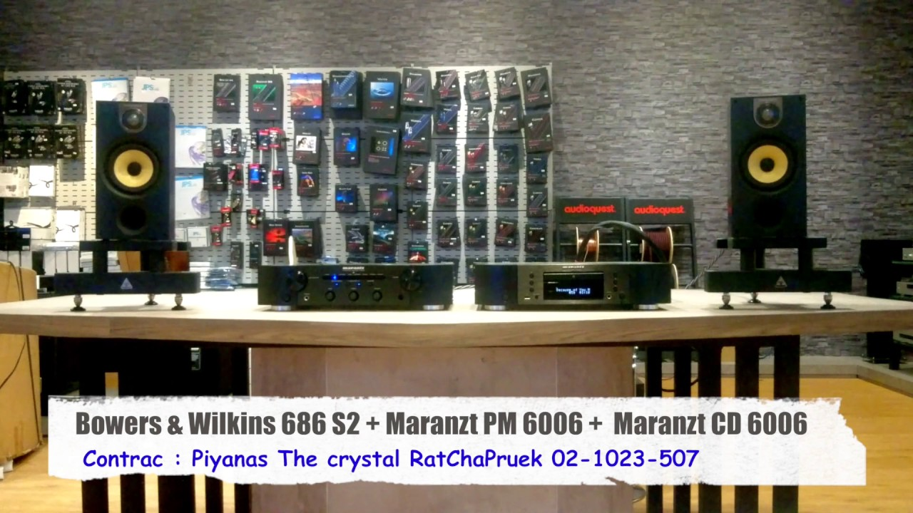 bowers and wilkins 686. sound system : bowers \u0026 wilkins 686 s2 + marazt pm 6006 cd - youtube and