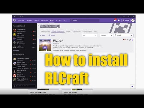 How To Install RLCraft (tutorial)