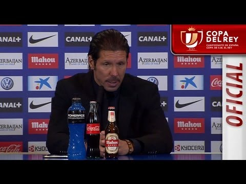 Rueda de Prensa de Simeone tras el Atlético de Madrid (1-0) Athletic Club - HD Copa del Rey