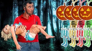 Halloween Skeletons Funny Kids Show and Nursery Rhymes for Kids