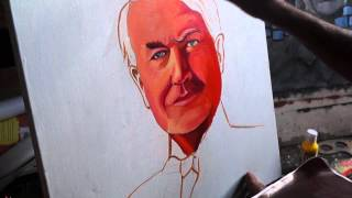 How to paint Portrait in simple and quick method (Thomas alva edison)