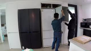 【동탄 호수포레나】 주방 냉장고장 리폼 냉장고장 틈새장…