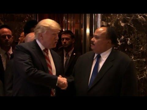 Son of Martin Luther King Jr., Trump meet