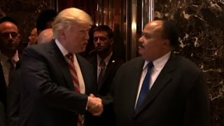 Son of Martin Luther King Jr., Trump meet