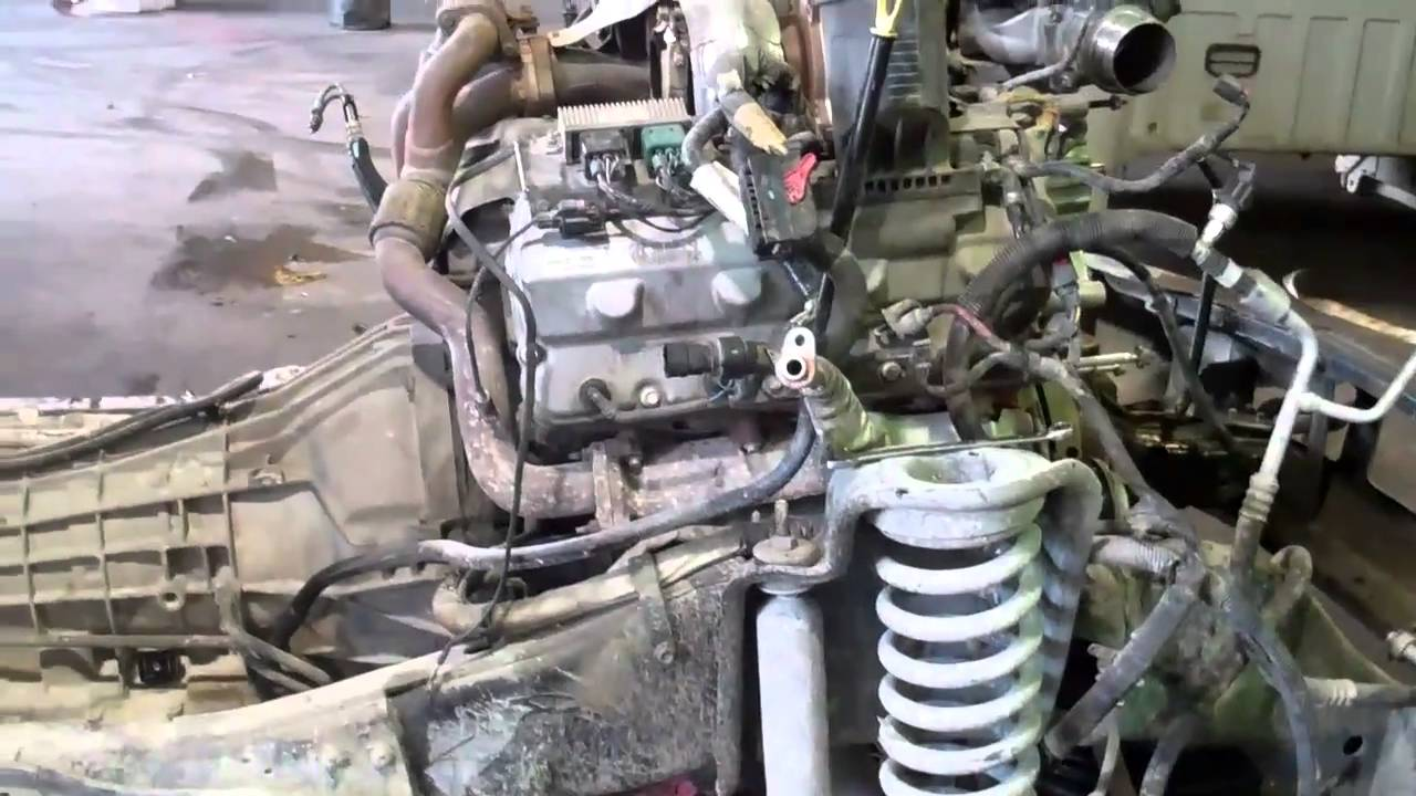 6.4 Liter Ford Powestroke Engine Swap - YouTube