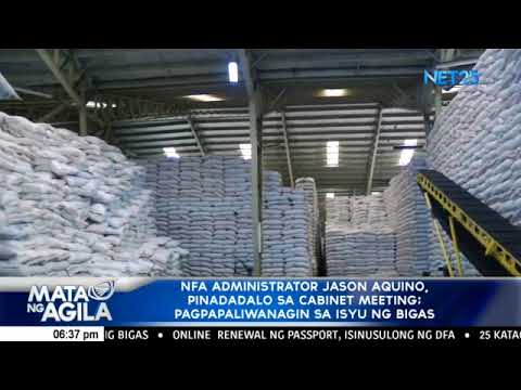 NFA administrator asked to attend cabinet meeting to personally explain rice situation to Duterte