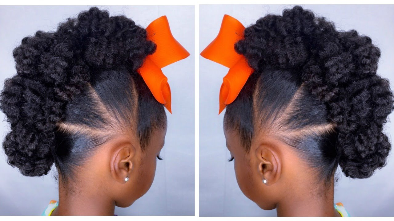 Natural Hair Bun Mohawk