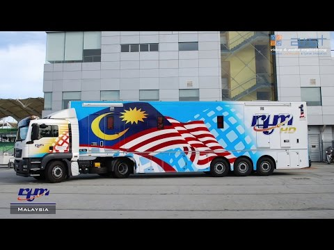 16 HD Cameras OB Van for Sport Production - RTM Malaysia