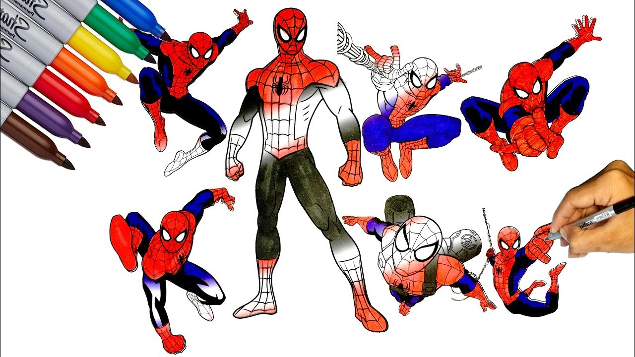 Ultimate SPIDER-MAN Coloring Pages / Ultimate Spider-Man Actions / Let  Color Spider-Man