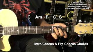 R. City - Locked Away ft. Adam Levine Cool Strum Easy Guitar Tutorial