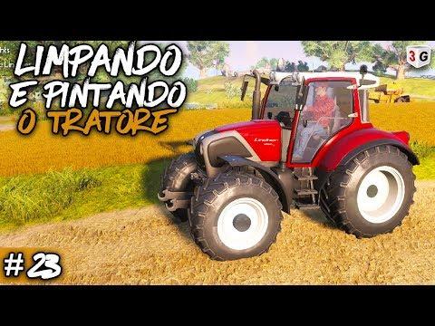 LIMPANDO E PINTANDO O TRATOR - FARMER'S DYNAST #23