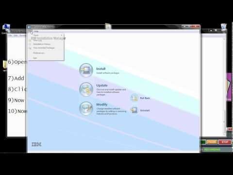 Applying packs to websphere application server using installation manager on windows