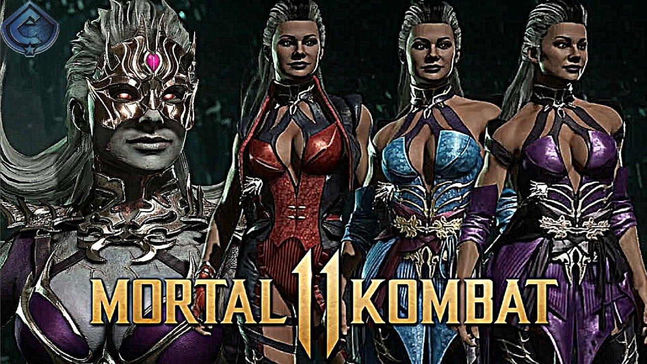 Mortal Kombat 11 All Sindel Gear Skins Intros And Win Poses