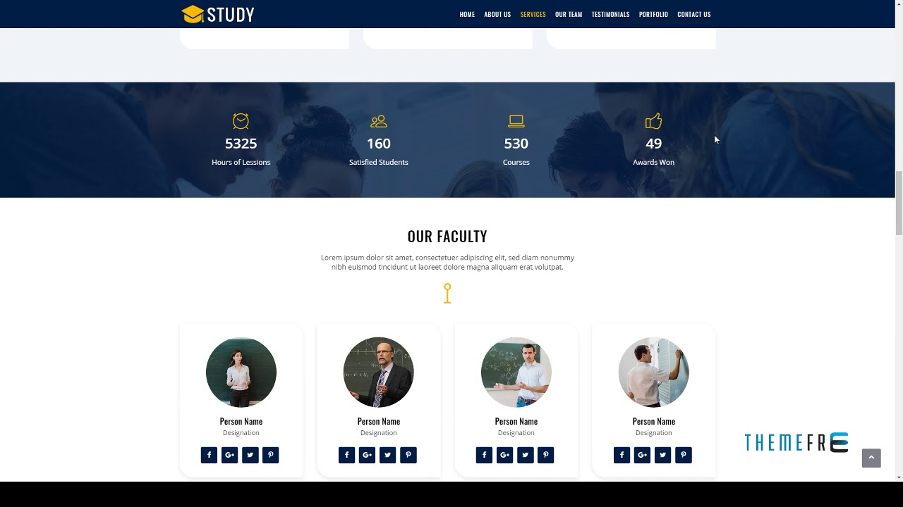 Study Responsive One Page Html Template Free Template Dru Youtube
