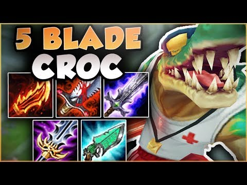 NO ONE IS SAFE FROM THIS CROC! 5 BLADE RENEKTON IS LETHAL! FULL DAMAGE RENEKTON! - League of Legends