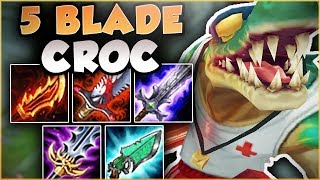 NO ONE IS SAFE FROM THIS CROC! 5 BLADE RENEKTON IS LETHAL! FULL DAMAGE RENEKTON! - League of Legends thumbnail