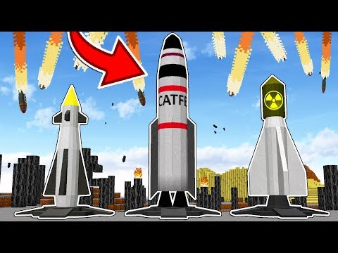 LAUNCHING NUCLEAR MISSILES IN MINECRAFT!!... (DON'T TRY AT HOME)