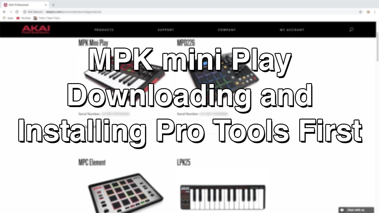MPK mini Play - Downloading and Installing Pro Tools First